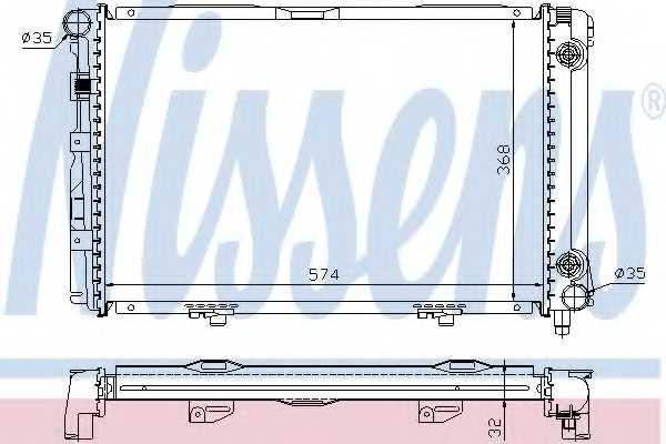 Радиатор охлаждения двигателя NISSENS 62670A - изображение