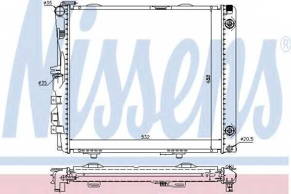 Радиатор охлаждения двигателя NISSENS 62683A - изображение