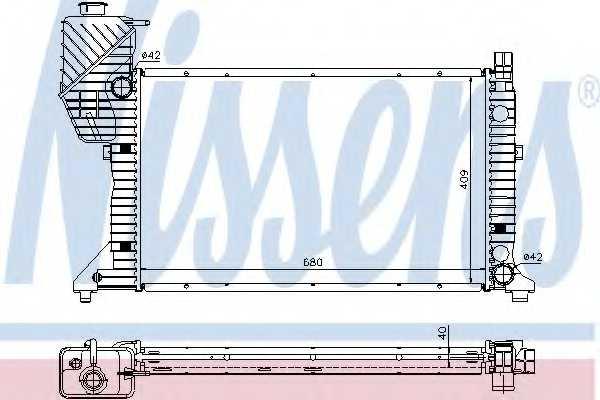 Радиатор охлаждения двигателя NISSENS 62685A - изображение