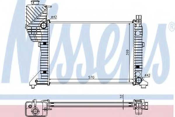 Радиатор охлаждения двигателя NISSENS 62687A - изображение