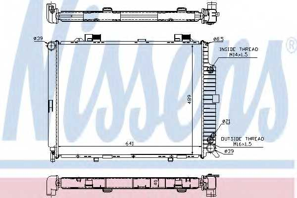 Радиатор охлаждения двигателя NISSENS 62689A - изображение