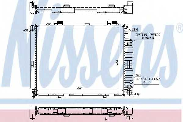 Радиатор охлаждения двигателя NISSENS 62691A - изображение