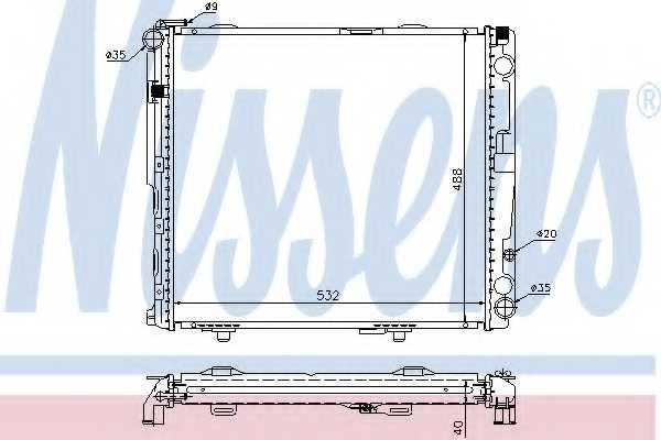 Радиатор охлаждения двигателя NISSENS 62696A - изображение