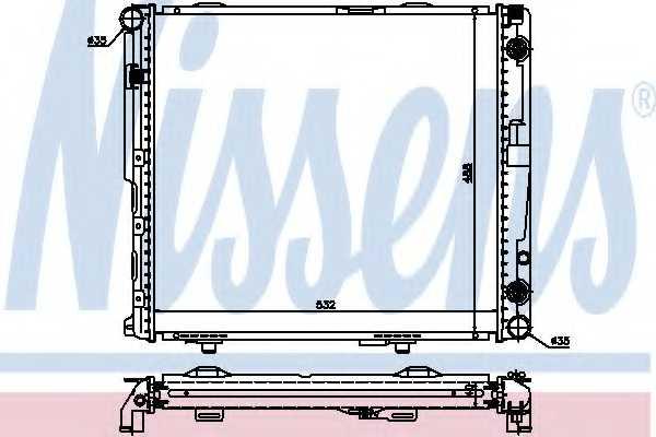 Радиатор охлаждения двигателя NISSENS 62698A - изображение