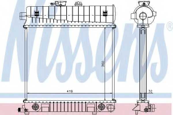 Радиатор охлаждения двигателя NISSENS 62708A - изображение