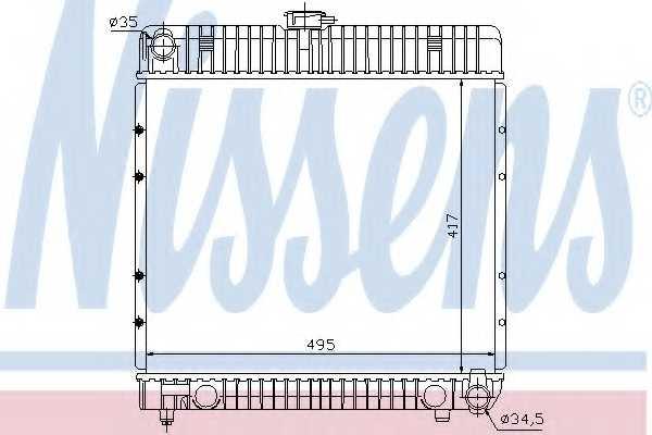 Радиатор охлаждения двигателя NISSENS 62710 - изображение