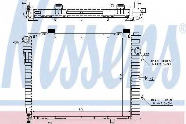 Радиатор охлаждения двигателя NISSENS 62712A - изображение
