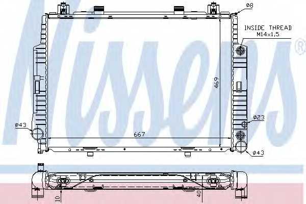 Радиатор охлаждения двигателя NISSENS 62716A - изображение