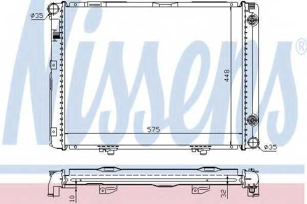 Радиатор охлаждения двигателя NISSENS 62722A - изображение