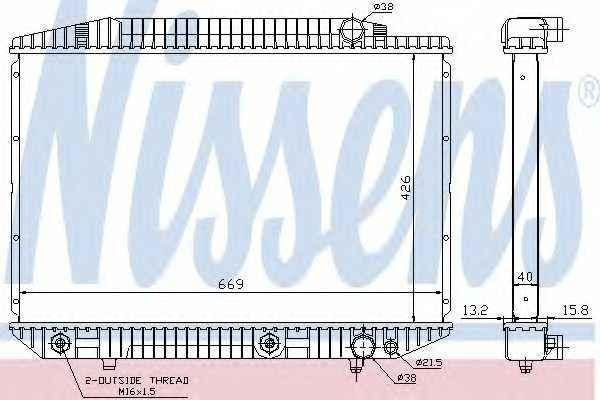 Радиатор охлаждения двигателя NISSENS 62727A - изображение