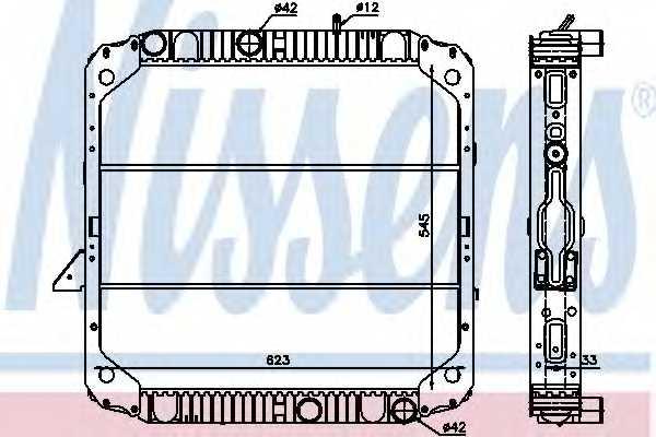 Радиатор охлаждения двигателя NISSENS 62743 - изображение