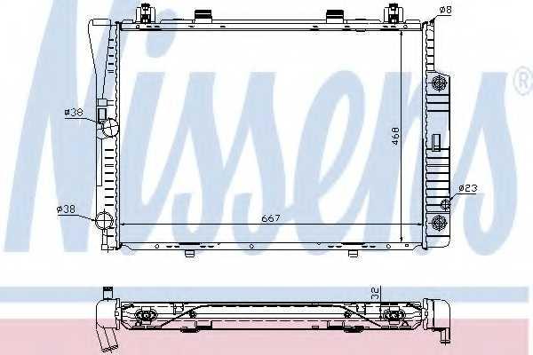 Радиатор охлаждения двигателя NISSENS 62746A - изображение