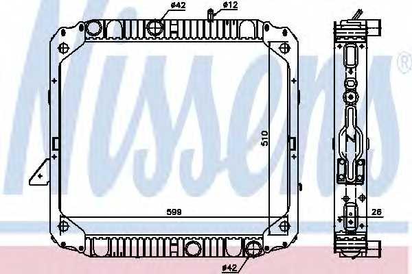 Радиатор охлаждения двигателя NISSENS 62747 - изображение
