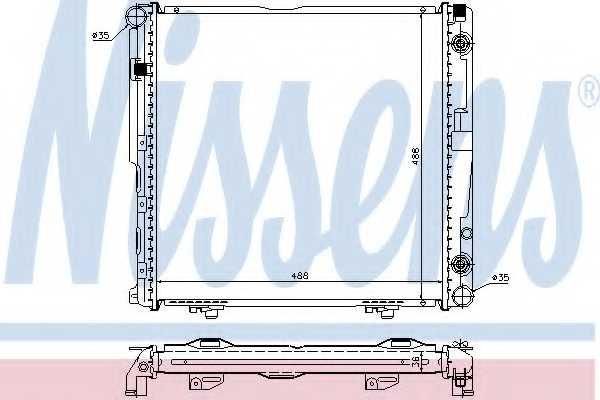 Радиатор охлаждения двигателя NISSENS 62751A - изображение