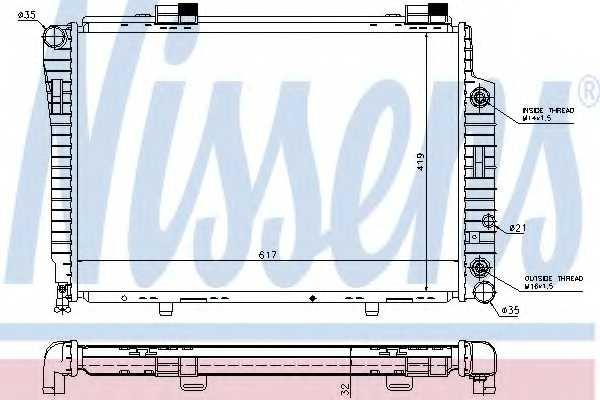 Радиатор охлаждения двигателя NISSENS 62756A - изображение