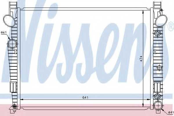 Радиатор охлаждения двигателя NISSENS 62772 - изображение
