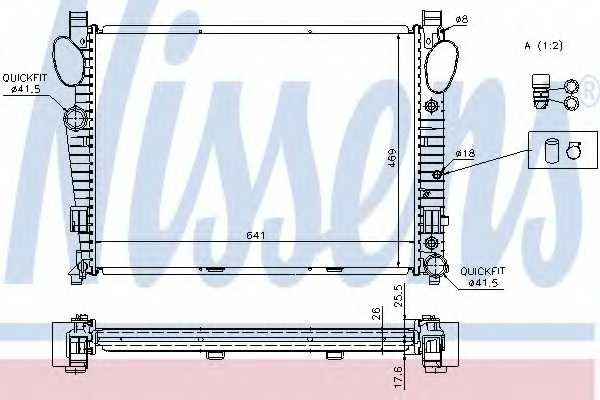 Радиатор охлаждения двигателя NISSENS 62774A - изображение