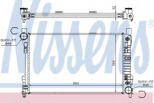 Радиатор охлаждения двигателя NISSENS 62786A - изображение