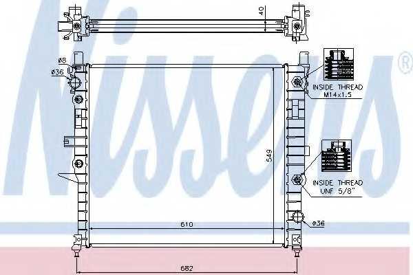 Радиатор охлаждения двигателя NISSENS 62788A - изображение