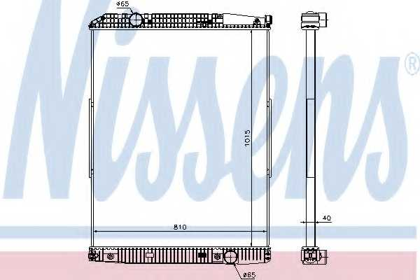 Радиатор охлаждения двигателя NISSENS 627910 - изображение