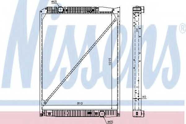 Радиатор охлаждения двигателя NISSENS 62791A - изображение