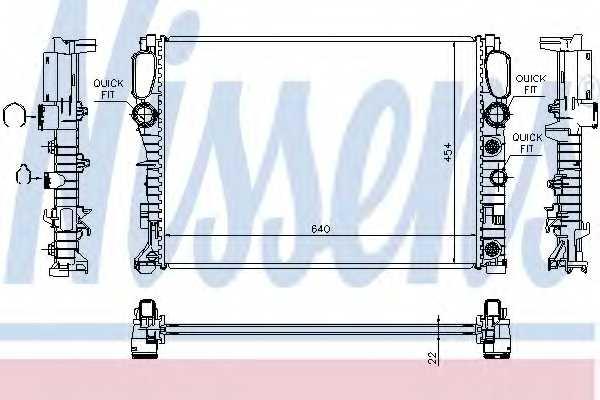 Радиатор охлаждения двигателя NISSENS 62792A - изображение