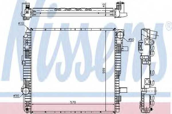 Радиатор охлаждения двигателя NISSENS 62794A - изображение