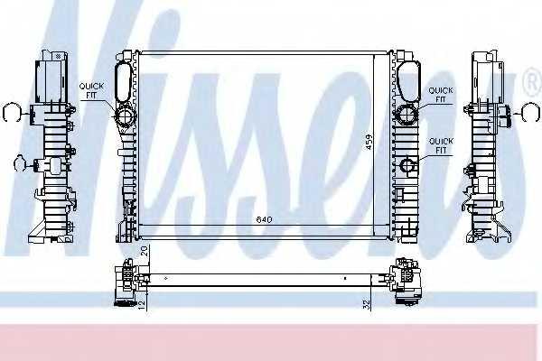 Радиатор охлаждения двигателя NISSENS 62797A - изображение