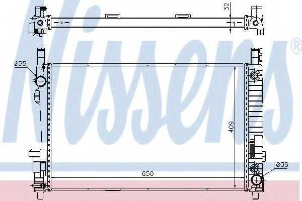 Радиатор охлаждения двигателя NISSENS 62799A - изображение