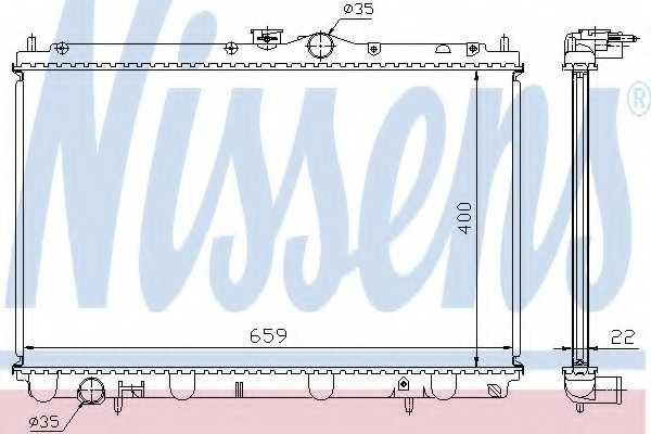 Радиатор охлаждения двигателя NISSENS 62857A - изображение