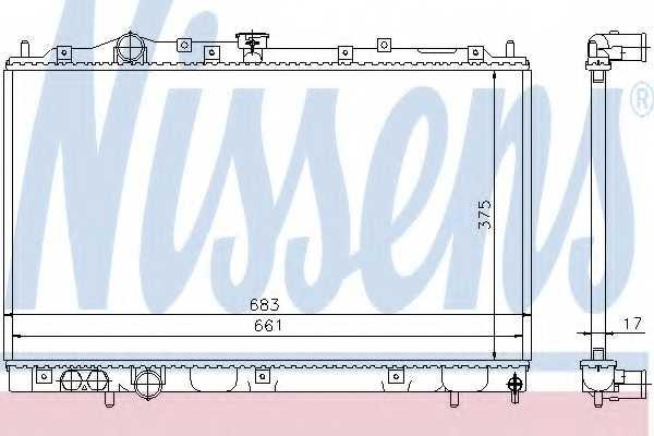 Радиатор охлаждения двигателя NISSENS 628591 - изображение