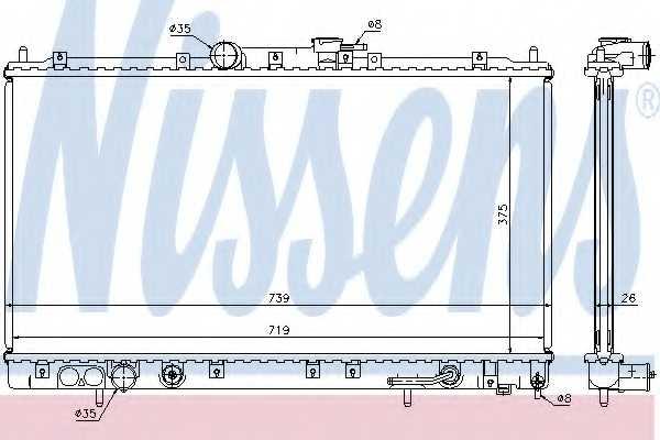 Радиатор охлаждения двигателя NISSENS 62869A - изображение