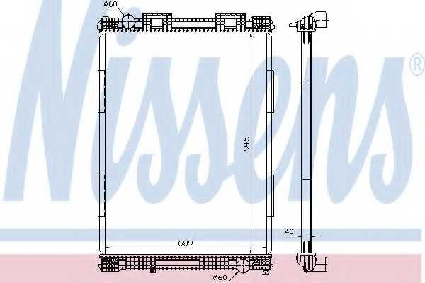 Радиатор охлаждения двигателя NISSENS 628700 - изображение