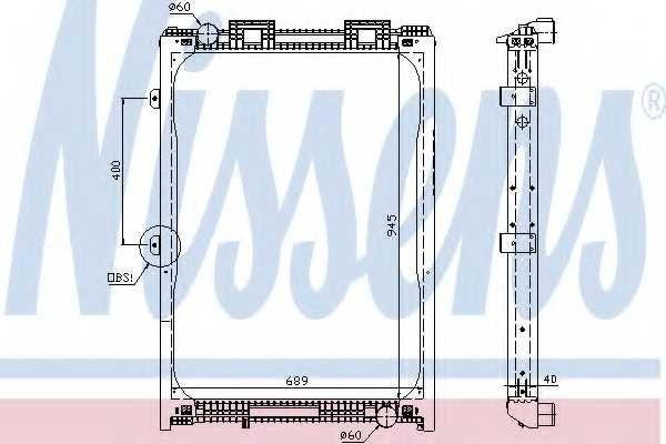 Радиатор охлаждения двигателя NISSENS 62870A - изображение