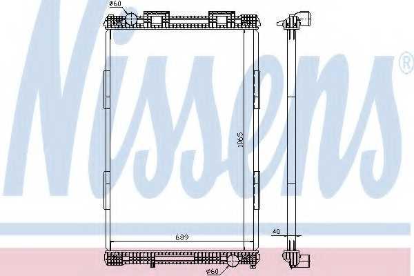 Радиатор охлаждения двигателя NISSENS 628720 - изображение