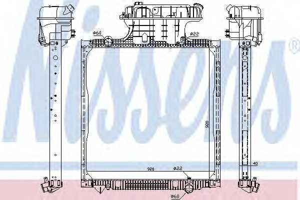 Радиатор охлаждения двигателя NISSENS 62873 - изображение