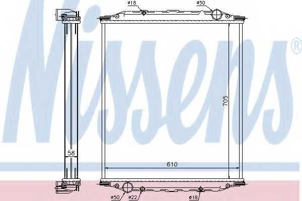 Радиатор охлаждения двигателя NISSENS 628780 - изображение