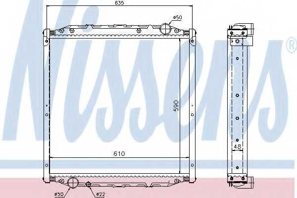Радиатор охлаждения двигателя NISSENS 62880A - изображение
