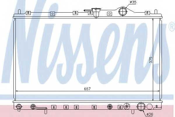 Радиатор охлаждения двигателя NISSENS 62887 - изображение
