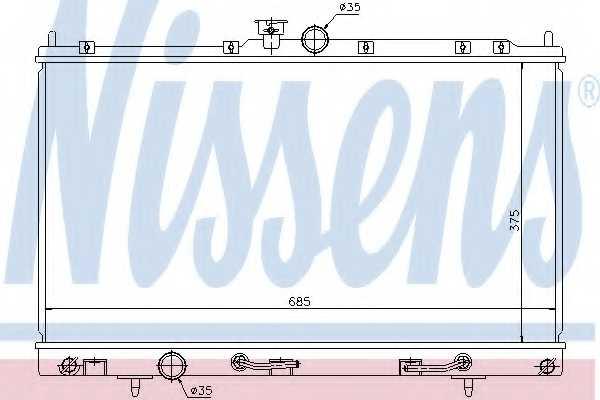 Радиатор охлаждения двигателя NISSENS 62894 - изображение