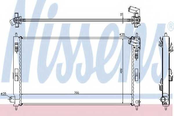Радиатор охлаждения двигателя NISSENS 628952 - изображение