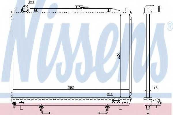 Радиатор охлаждения двигателя NISSENS 628959 - изображение