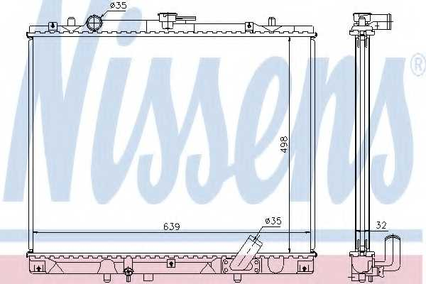Радиатор охлаждения двигателя NISSENS 62895A - изображение