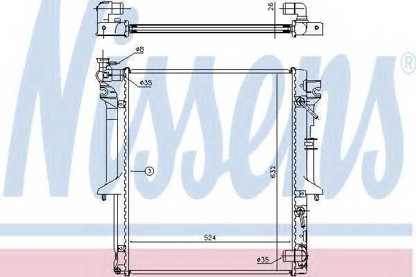 Радиатор охлаждения двигателя NISSENS 62896 - изображение
