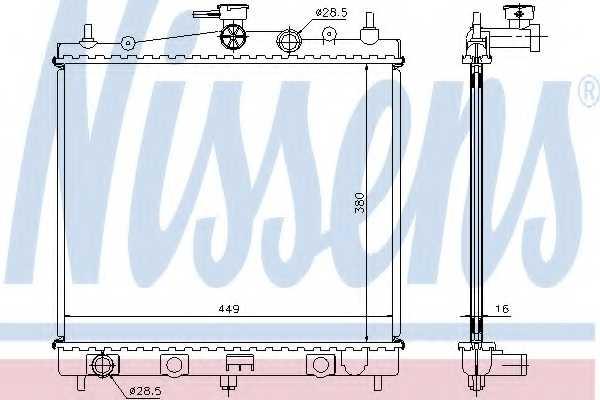 Радиатор охлаждения двигателя NISSENS 62902A - изображение
