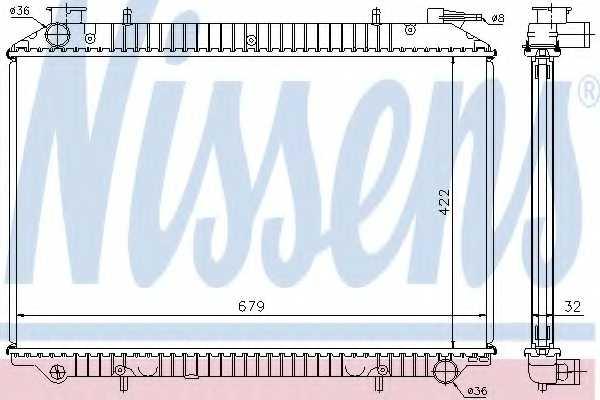 Радиатор охлаждения двигателя NISSENS 62908A - изображение