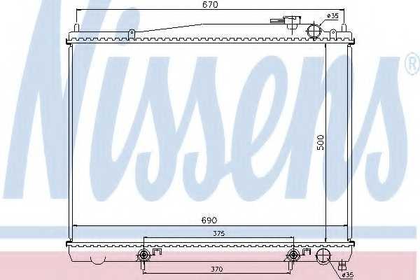 Радиатор охлаждения двигателя NISSENS 62916 - изображение