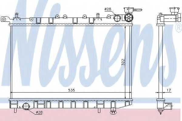 Радиатор охлаждения двигателя NISSENS 62949 - изображение