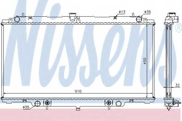 Радиатор охлаждения двигателя NISSENS 62953A - изображение