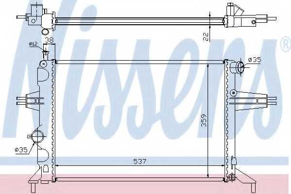 Радиатор охлаждения двигателя NISSENS 63005A - изображение
